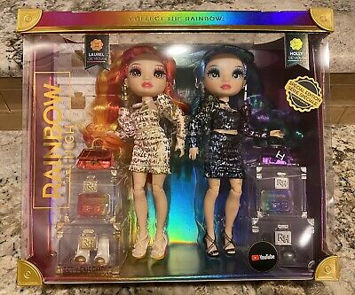 RAINBOW HIGH LAUREL - HOLLY DEVIOUS TWINS SPECIAL EDITION DOLL SET IN HAND NEW