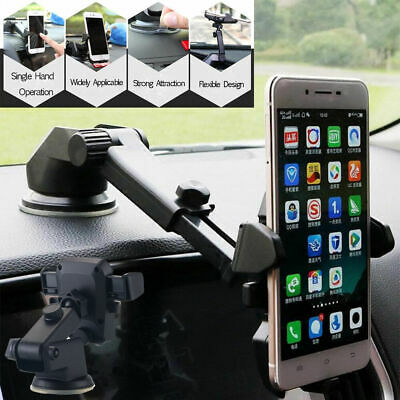 360° Mount Holder Car Windshield Stand For Mobile Cell Phone  Android GPS