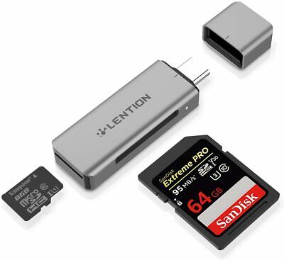 USB C to SDMicro SD Card Reader Type C Adapter for 2020-2016 MacBook Pro