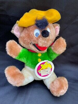 VTG Warner Bros- Mighty Star Speedy Gonzales 8 Plush Mouse Figure All tags 1980