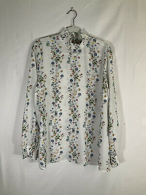 Disney Torrid Beauty And The Beast Print Blouse TeapotTea Cups Size 1 1X