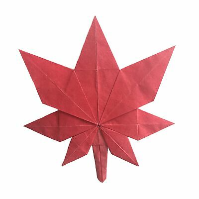 An Origami Maple Leaf Origami handmade paper old
