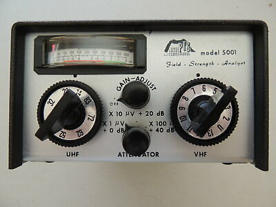 Vintage PTS 5001 Television Field Strength Meter  Analyst RARE