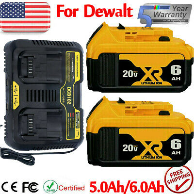 for Dewalt 20V Max XR 7-0AH Lithium Ion Battery or Dual Charger DCB206-2 DCB205