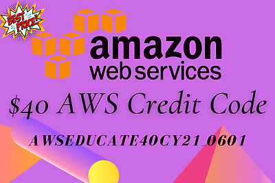 AWS 40 Amazon Web Services Credit Code Lightsail EC2 New Event  AWSEducate40CY2