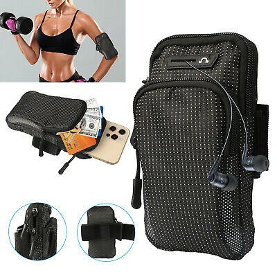 Arm Band Cell Phone Holder Running Sports Gym Jogging Key Card Bag Armband Case