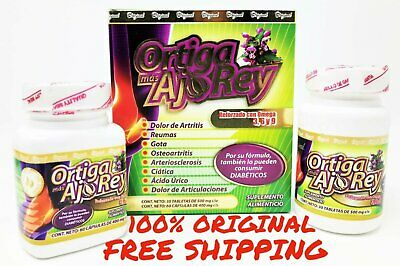 Ortiga Mas AJO REY Omega 369 100 AUTHENTIC 2 Bottles 30 Day Joint Support