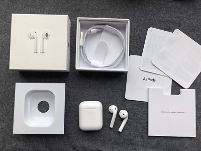 Airpods 2nd Generation With Wireless Charging Case Bluetooth  Earbuds-White