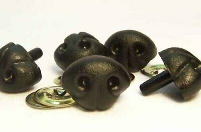 Sassy Bears 25mm Black Animal Safety Noses for bears dolls crafts 10 noses