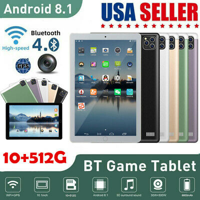 Tablet Android 10-1 WiFi HD 10 Core PC Google GPS Dual Camera Bluetooth US 2021