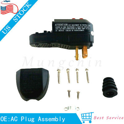 Replacement AC Plug Assembly with Ground Fault Circuit 3-Prongs OAONAN 15A GFCI