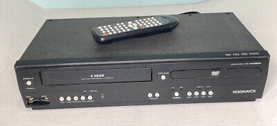Magnavox DVD VHS Combo Player DV220MW9 4-Head VCR Recorder Tested w Remote