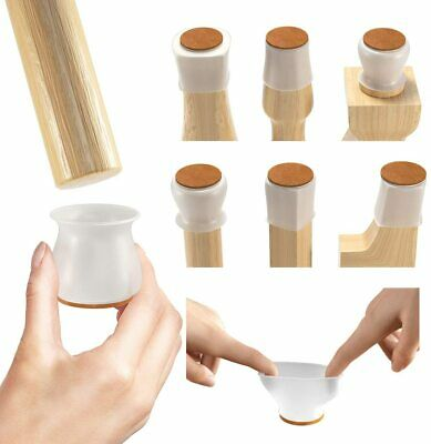 32 Pack Upgraded Chair Leg Protectors for Hardwood Floors Silicone Protectors
