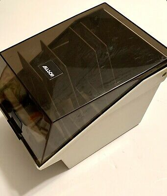 Floppy Disc Media Storage Box 5-25 ALLSOP With Dividers Smoke Lid Photo Upcycle