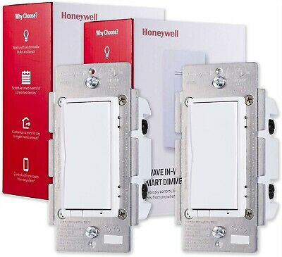 Honeywell Home UltraPro Z-Wave Plus Smart Light Dimmer Switch 2-pack