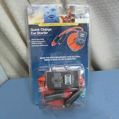 NEW EXCALIBUR QUICK CHARGE CAR STARTER 12 VOLT BATTERY CHARGING CABLE