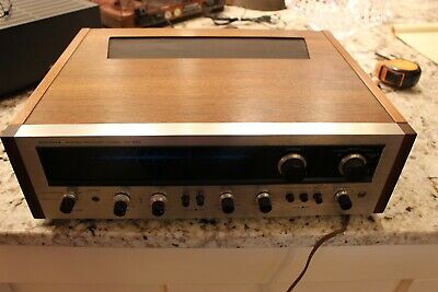 Vintage Pioneer SX-990 Stereo Receiver Beautiful Wood Cabinet Works Sounds Great