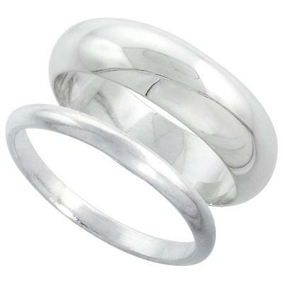 Sterling Silver Plain Band Comfort Fit Ring Solid 925