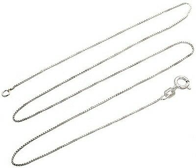 Sterling Silver Box Chain .8mm Genuine Solid 925 Italy Classic New Necklace