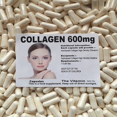 The Vitamin Collagen 600mg Capsules - Bagged