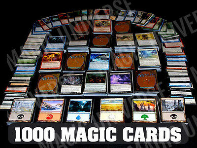 1000 Magic the Gathering Cards Lot With 100 Lands MTG Includes Foils - Rares