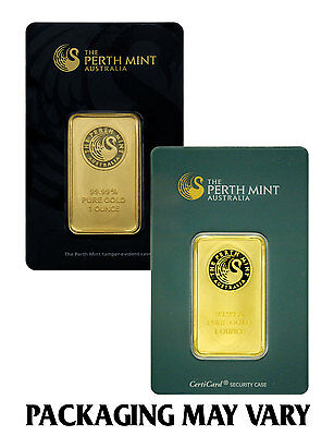 Perth Mint Australia 1 oz- Gold Bar - Sealed wAssay Cert- SKU27278