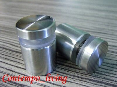 1 Diameter 2-34 Base Stainless Steel Standoff for Glass Display