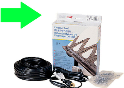 ADKS Easy Heat Roof Gutter DE-ICING Ice Snow Melter Cable Tape Kit PICK SIZE New