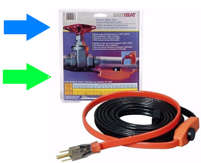 EASY HEAT AHB Electric Water Pipe Freeze Proof Heated Cable Tape PICK SIZE New