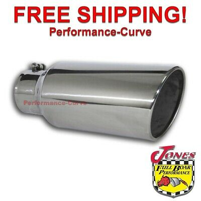 Diesel Stainless Steel Exhaust Tip 4 Inlet - 6 Outlet - 15 Long - Bolt On
