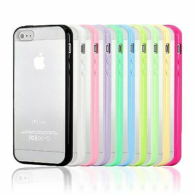 TPU Bumper PC Matte Clear Back Case Cover for iPhone 4 4S 5 5S 5C 6 6S6S Plus