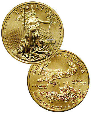 RANDOM DATE - 110 Troy Oz Fine Gold American Eagle 5 Coin SKU26123
