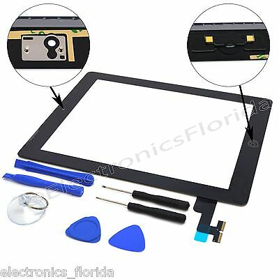 Black Screen Glass Digitizer replacement for iPad 2 A1395 A1397 A1396 - Tools