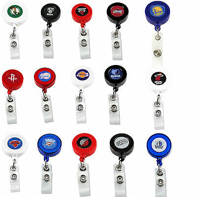 NBA badge reel lanyard RETRACTABLE PICK YOUR TEAM