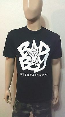 Bad Boy Entertainment  Black or Gray Tee  Diddy Biggie Smalls The Notorious big