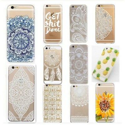 Henna Mandala Floral Paisley Soft Back Cover Case For iphone 55S 5C 66S Plus