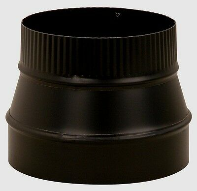 New IMPERIAL BM0079 8 Dia- to 6 Dia- STOVE PIPE REDUCER Black 24 Gauge Steel