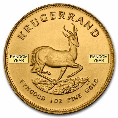 Random Year 1 oz Gold South African Krugerrand - SKU 85815