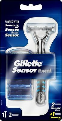 Gillette Sensor Excel Razor Handle - 3 Cartridges