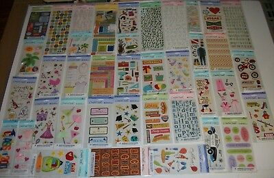 Lot of 30 Packs AMERICAN GREETINGS Creative Touch SCRAPBOOKING Stickers NEW