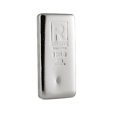 1 Kilo Silver Bar - RESERVE by Scottsdale Mint -999 Silver A213
