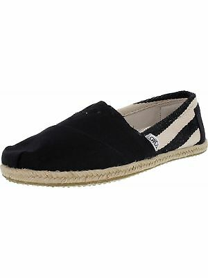 Toms Womens Classic Striped Canvas Ankle-High Flat Shoe