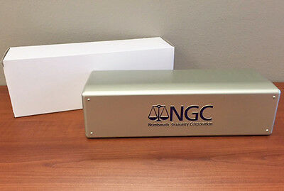 SILVER BOX Brand New NGC Storage Plastic Box  Holds 20 NGC Slabs-
