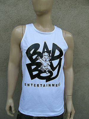 Bad Boy Entertainment White Tank Top P Diddy Biggie Smalls Notorious big