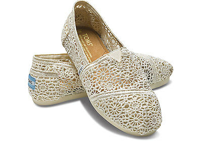 New Authentic Natural Morocco Crochet Toms Shoes