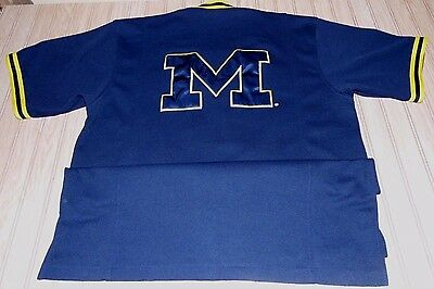 vtg 90s michigan WOLVERINES nike NCAA basketball WARM up JERSEY jacket SWEET 16