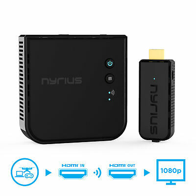 Nyrius Wireless Video HDMI Transmitter - Receiver for Streaming 1080p HD 3D TV