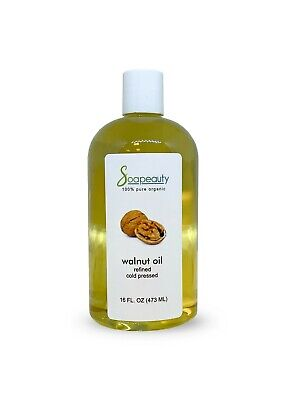 WALNUT OIL CARRIER ORGANIC COLD PRESSED 100 PURE REFINED 4 OZ TO 1 GALLON