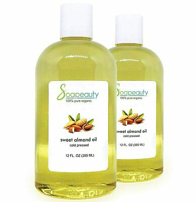 SWEET ALMOND OIL ORGANIC CARRIER COLD PRESSED REFINED NATURAL 100 PURE