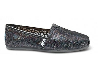New Authentic Women Multi Glitter Toms Shoes